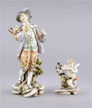Two figures, Richard Eckert, Volkste
