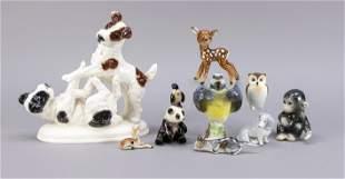 Mixed lot of ceramic animals, 10 pie