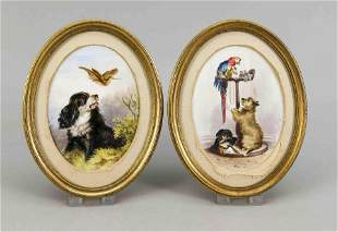 Pair of oval plaques, w. 19th c., fi