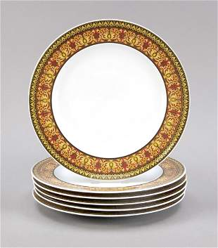 Six plates, Rosenthal, end of 20th c