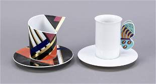 Two artist's collection cups, Rosent