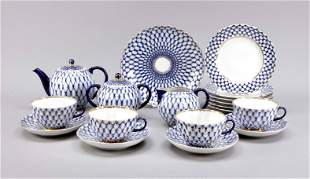 Tea service for 6 persons, 22 pieces