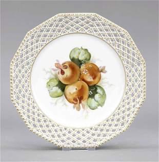 Fruit plate, Nymphenburg, mark 1925-
