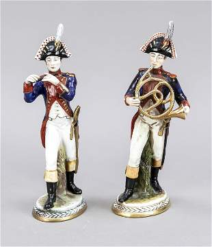 Two militaria figures from the music
