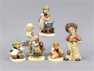 Six children's figurines, 20th c., 4