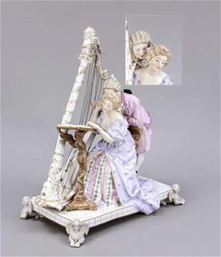 Harpist, w. Thuringia, c. 1900, eleg