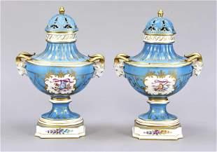 Pair of potpouri vases, Potschappel,