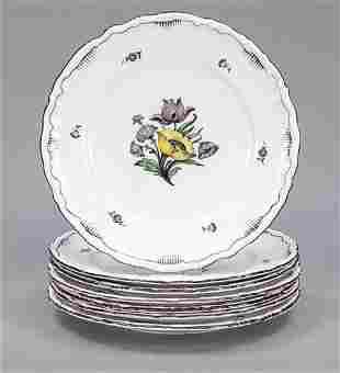 Seven faience plates, Rörstrand, Swe
