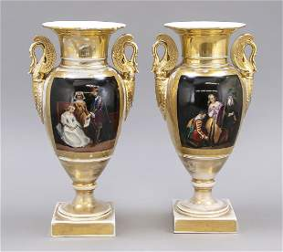 Pair of Empire vases, France, 19th c