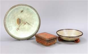 Three pieces of Art Deco ceramics, 1