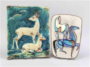 Two wall plates, Karlsruhe, mid-20th