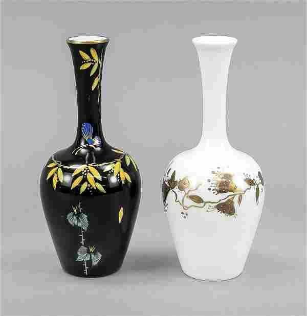Two bottle vases, Rosenthal, 20th c.