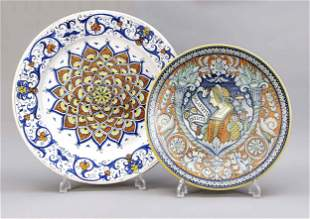 Two wall plates, Italy, 20th century