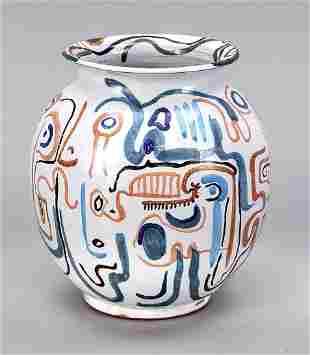 Modern ceramic vase, w. Spain, late