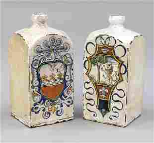 Two bottles, Italy, w. 19th c., rect
