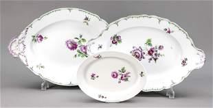 Three serving plates, KPM Berlin, c.