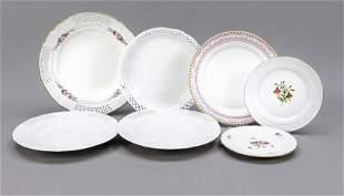 Seven plates, KPM Berlin, 20th c.,