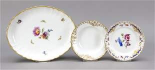 Three bowls, KPM Berlin, marks 1962-