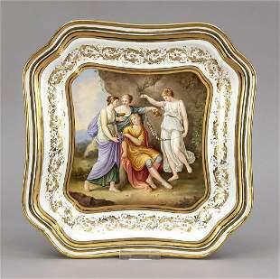 Porcelain plate, w. Vienna, c. 1900,