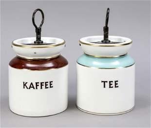 Two storage jars, KPM Berlin, mark b