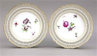 Pair of breakthrough plates, KPM Ber
