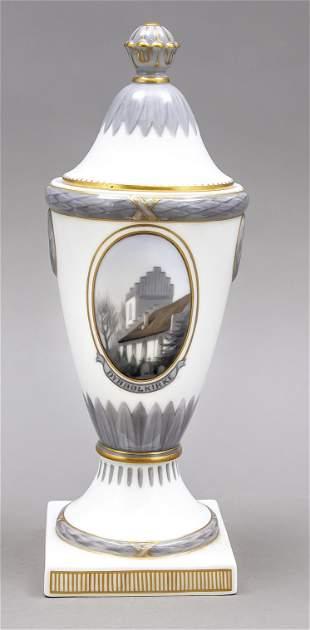Art Nouveau lidded goblet, Royal Cop