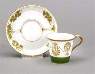 Art Nouveau mocha cup with saucer, K
