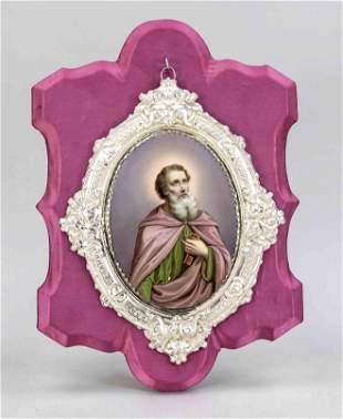 Oval porcelain plaque, 20th c., poly