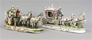 Two horse-drawn carriages, Thuringia