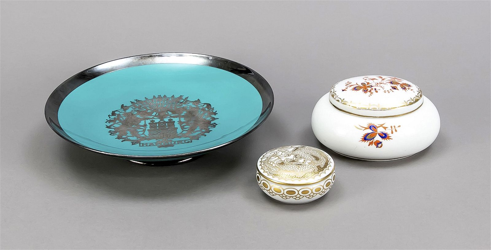Mixed lot of 3 pieces, 20th century,