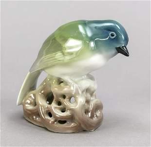 Art Nouveau figure, bird, KPM Berlin
