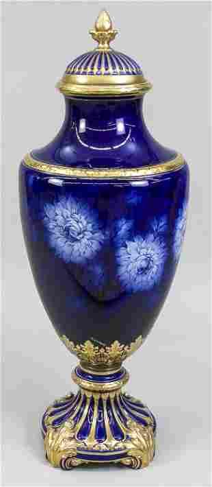 Very large lidded vase, probably F.
