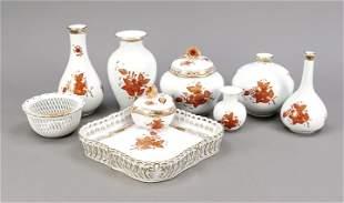Herend set, 9 pieces, after 1967, de