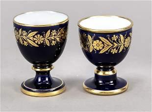 Two egg cups, Sevres, France, 2nd Em
