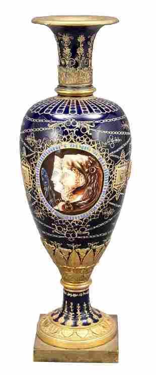 Rare Empire vase, Sévres, France, da