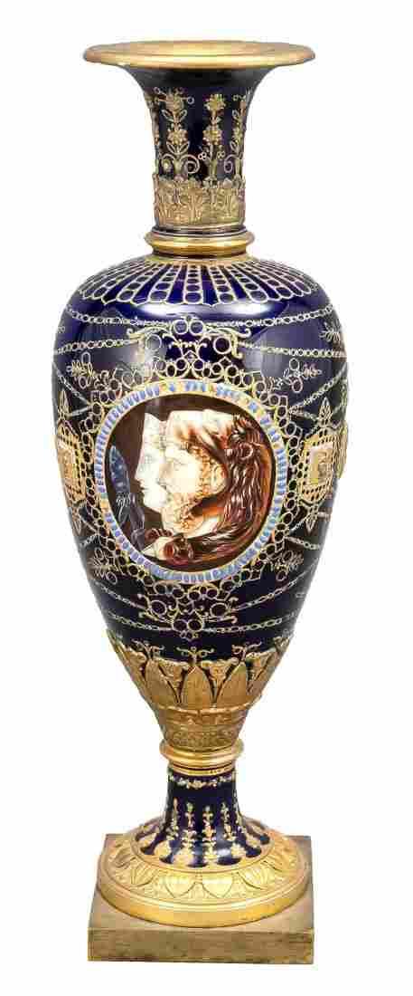 Rare Empire vase, Sevres, France, da
