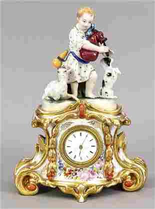 Figural table clock, 2-piece, France