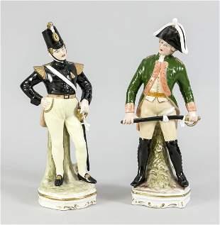 Two figures, Spanish cavalryman, anc