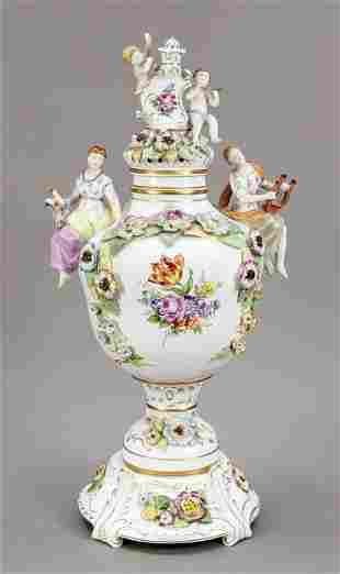 Large lidded vase, Plaue, Thuringia,