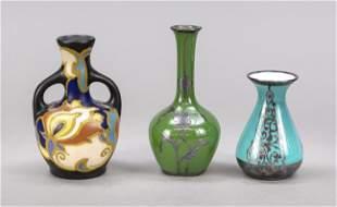 Three vases, 20th century, different