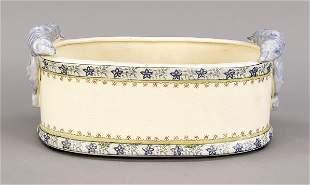 Jardiniere, 20th c., ceramic, oval s