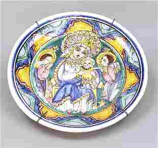 Large wall plate, Italy, 19th centur