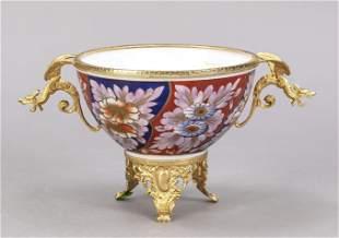 Round bowl with dragon handle, Limog