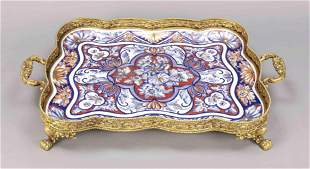 Large tray, Limoges, France, 20th c.