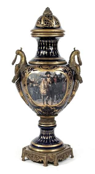 Splendorous lidded vase, in the styl