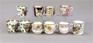 Ten reservist cups, German, c. 1900-