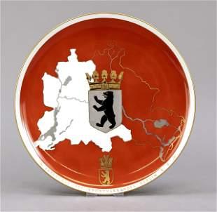 Wall plate, KPM Berlin, mark before