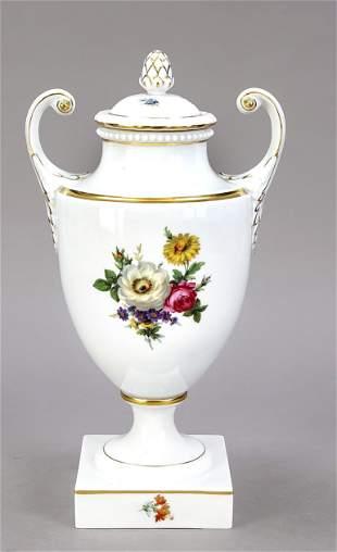 Lidded vase, Fürstenberg, 20th c., o