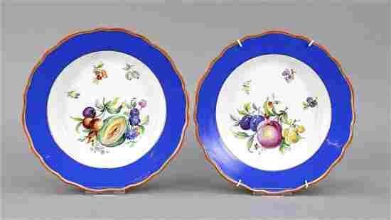 Two soup plates, Meissen, Knauff-Sch