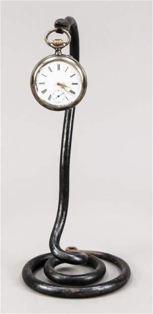 Pocket watch holder iron in